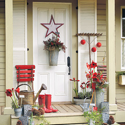 Southern Christmas front porch decor